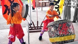 LION DANCE DRUMMING - Youngest Drummer Gong and Cymbals formed by Children