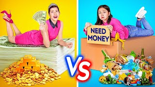 RICH VS NORMAL STUDENT || Rich Vs Poor Girl At School! Body Swap for 24 Hours By 123 GO! CHALLENGE