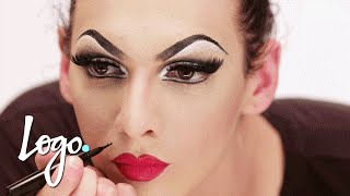 Drag Makeup Tutorial: Violet Chachki 'Leather and Lace Runway' Look | RuPaul's Drag Race | Logo