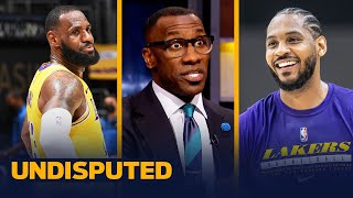 Carmelo Anthony calls LeBron the General Manager of the Lakers — Skip & Shannon | NBA | UNDISPUTED