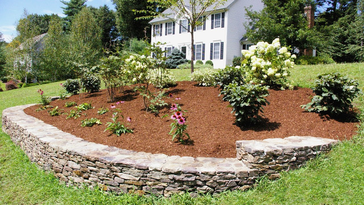 Beautiful Simple Garden Design Plans: Landscaping Ideas For A Front Yard: A Berm For Curb Appeal