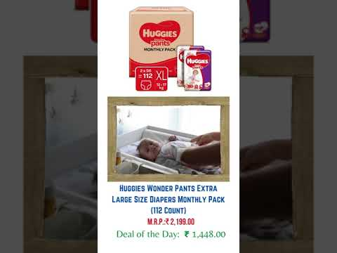 Amazon today offers on Huggies Wonder Pants Extra Large Size Diapers Monthly Pack 112 Count
