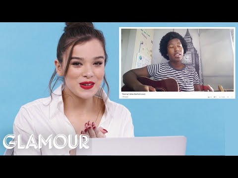 Hailee Steinfeld Watches Fan Covers On YouTube | Glamour