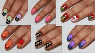 6 Easy Nail Art For Beginners!   DIY Nail Design