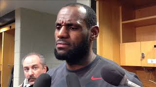 Lebron James talks about the Fox news reporter for the first time