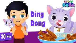 Ding Dong Bell Nursery Rhyme | Little BoBo - FlickBox Kids | Popular Songs Compilation