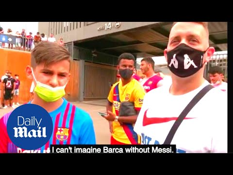 Heartbroken Barcelona fans react to seeing Lionel Messi for final time as a Barca player