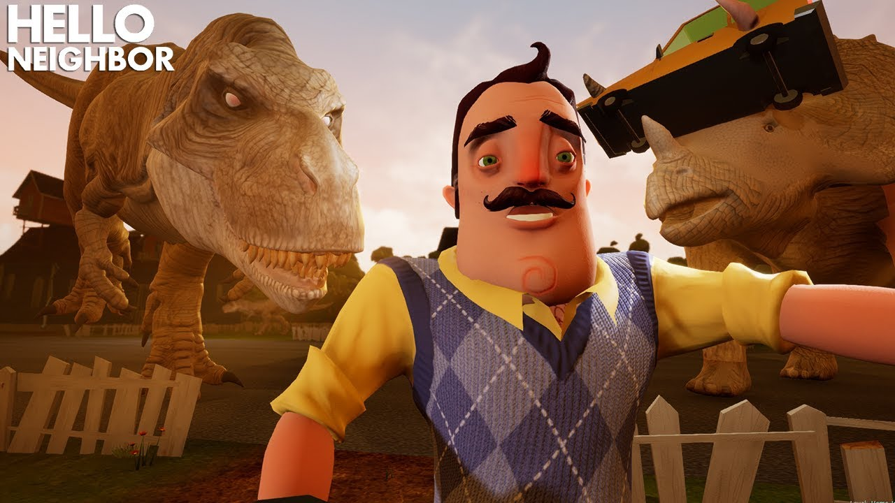 DINOSAURS IN HELLO NEIGHBOR!!! | Hello Neighbor Gameplay (Mods)