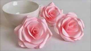 【Paper Flower】とても簡単!美しいバラ Beautiful Paper Rose