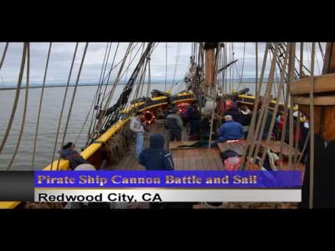 Pictures of Pirate Ship Cannon Battle and Sail, Redwood City, CA, USA