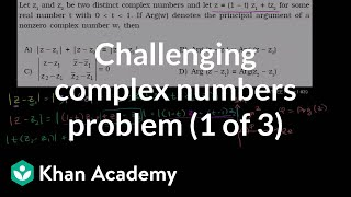 IIT JEE Complex Numbers (part 1)