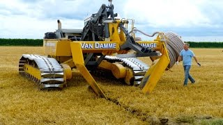 Inter-Drain GP-Series V plow   laying trenchless field drainage   Van Damme Drainage