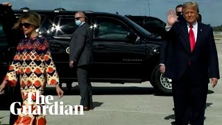 Melania Trump leaves Donald Trump alone in front of the cameras