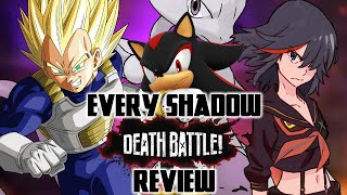 Every Shadow the Hedgehog DEATH BATTLE! Episode Reviewed (VS Vegeta/Mewtwo/Ryuko)