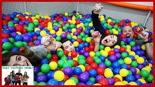 Last To Leave Ball Pit Challenge Hide And Seek! / That YouTub3 Family I Family Channel
