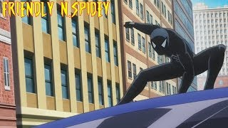 Symbiote Spidey VS Captian America - Marvel Avengers Disk Wars Anime Clip