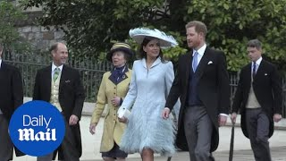 Prince Harry and family at the wedding of Lady Gabriella Windsor