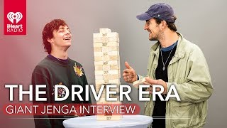 The Driver Era Answer Questions While Playing Giant Jenga!