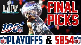 NFL Predictions 2019-20 Playoffs & Superbowl (Who Will Win Super Bowl 54?)