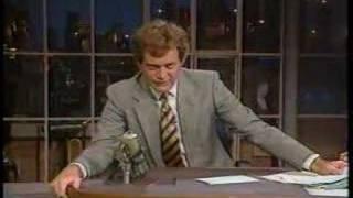 David Letterman - Earthquake