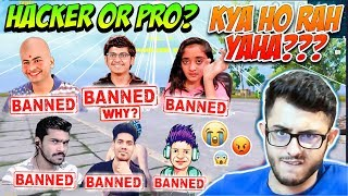 Streamers Getting Banned in Live Stream - Dynamo, Mortal, Shreeman, PK, MDisCrazy - Hacker or Pro?