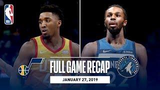 Full Game Recap: Jazz vs Timberwolves | Donovan Mitchell & Andrew Wiggins Duel In Minnesota