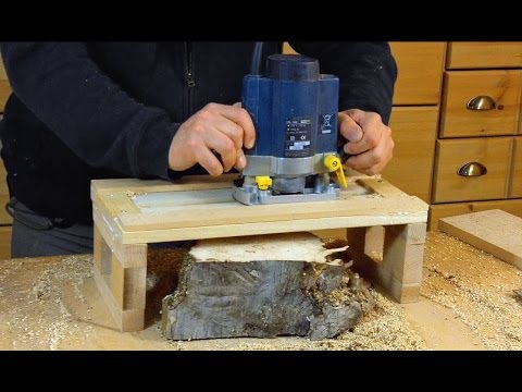 simple router planer jig woodworking how to. Black Bedroom Furniture Sets. Home Design Ideas
