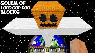 I JUST SPAWN IRON GOLEM of 1.000.000.000 BLOCKS in Minecraft ! MOST BIGGEST GOLEM