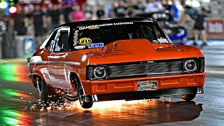 "Justin ""RED"" Martin's Beautiful Twin Turbo Chevy Nova!!"