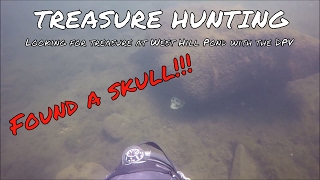 FOUND A SKULL!! Scuba Diving West Hill Pond, New Hartford CT with Gavin Scooter DPV. Gopro scuba.