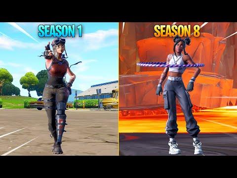 Evolution of Season Dances in Fortnite (Season 1 - Season 8)