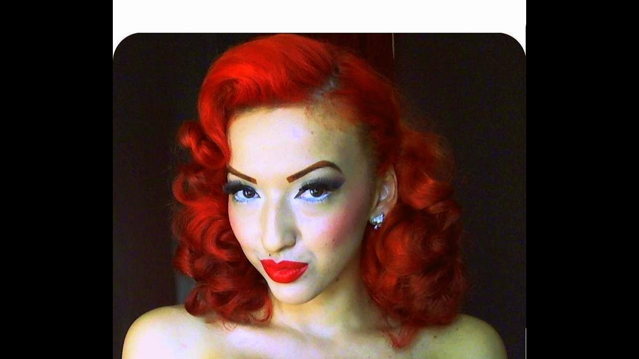 Vintage Retro Pinup Pin Curl Hair Tutorial Youtube