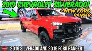2019 Chevrolet Silverado Sneak Peek + 2019 Ford Ranger Walk Around - 2018 Detroit Auto Show Visit