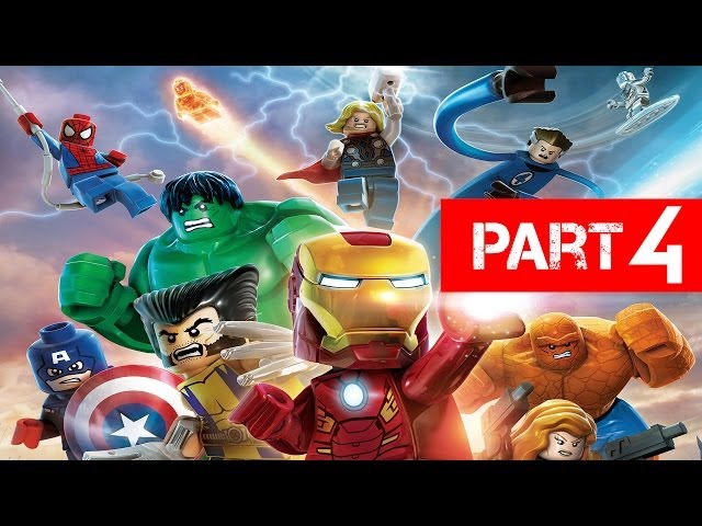 LEGO Marvel Super Heroes Gameplay Walkthrough Part 4 - Rock up at the Lock up Let's Play Xbox PS3 PC