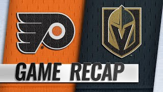 Simmonds, Flyers take down Golden Knights