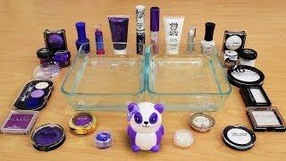 Mixing Makeup Eyeshadow Into Slime ! Purple vs White Special Series Part 36 Satisfying Slime Video