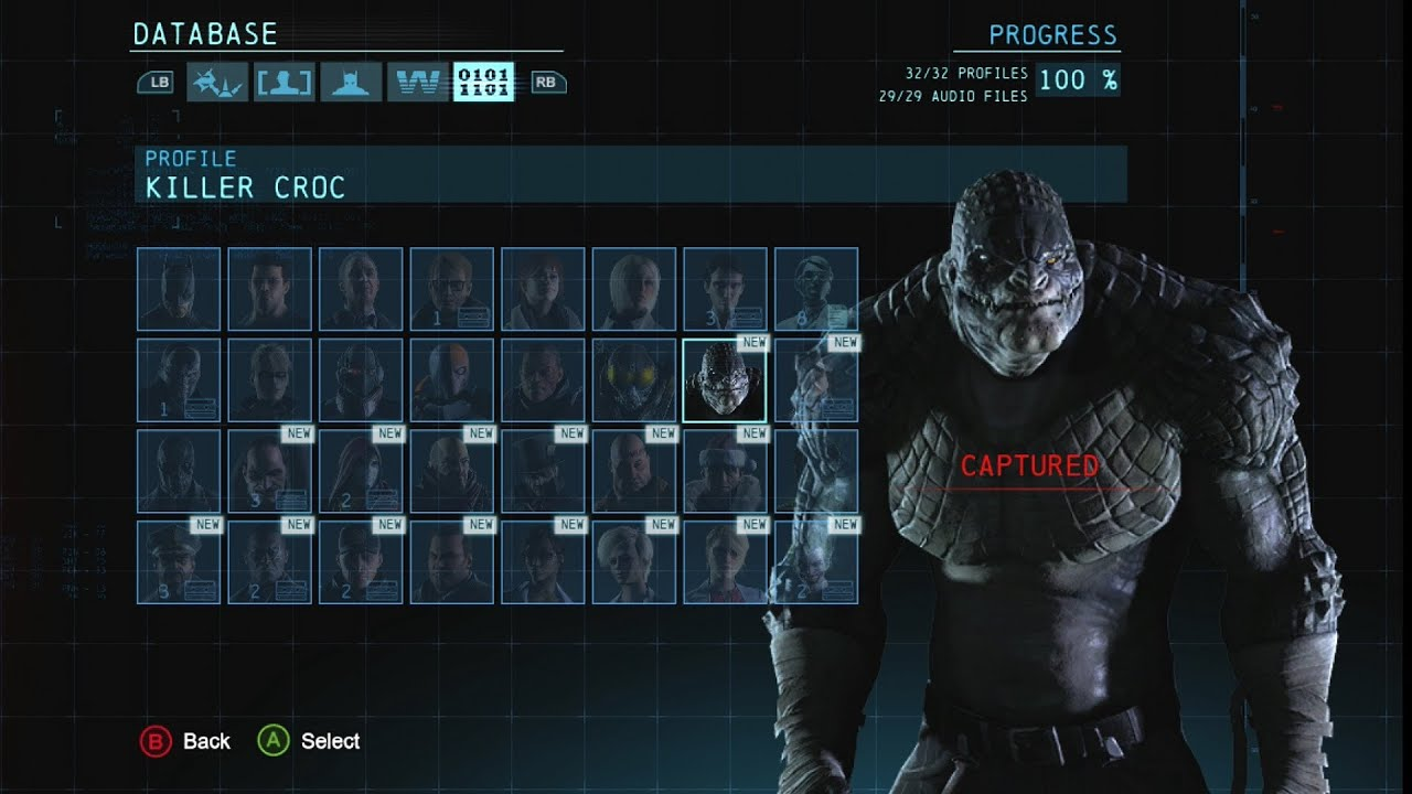 Batman Arkham Origins All Character Bios / Profiles - YouTube