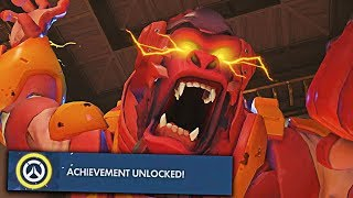 Getting An Impossible Achievement...  - Overwatch Pro + Funny Moments #17