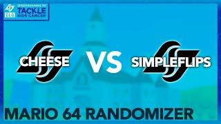 CLG cheese vs CLG SimpleFlips | SM64 Randomizer Race | CLG Speedrunning to Tackle Kids Cancer