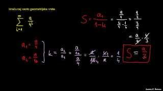 Vsota geometrijske vrste 3