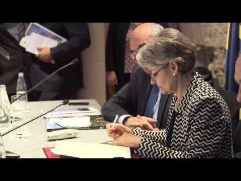 La directora general de la UNESCO, Irina Bokova, inaugura centro UNESCO-Fundación Abertis .