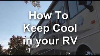 How To Keep Cool in your RV