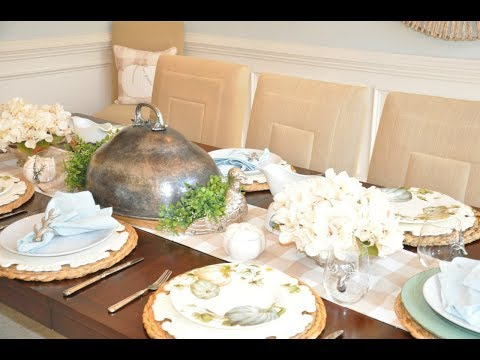 2019 Fall Thanksgiving Tablescape Decorate With Me Last Minute Dinner Party Ideas