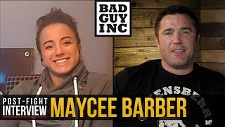 Maycee Barber has a need to hurt her opponent...