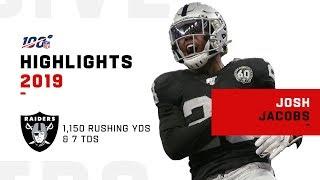 Josh Jacobs Full Rookie Season Highlights   NFL 2019