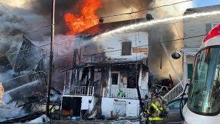 Ashland Fire Dept .  1112 Brock St - MASSIVE 3 Alarm Inferno W/Collapse