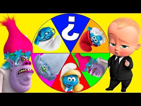 Boss Baby and Poppy Chef Play the Smurfs vs Trolls Movie Game   Ellie Sparkles Part 5