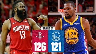 James Harden takes over in OT | Rockets vs. Warriors Game 3 | 2019 NBA Playoff Highlights