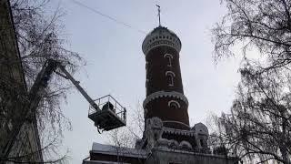 Омская пожарная каланча готова к встрече Нового года