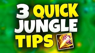 BE A BETTER JUNGLER - 3 Quick Tips! & I Want to Coach YOU - League of Legends